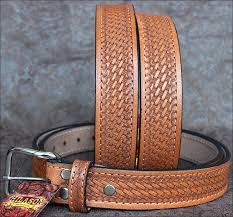heavy duty buffalo hide leather stiched holster belt tan zoom