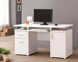 white computer desk. White Computer Desk With Keyboard Tray Luxury This Puter May Look Sleek And Simple I