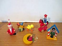 duck ornaments lot of 5 wooden toy oregon