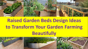 Small Picture Raised Garden Beds Design Ideas to Transform Your Garden Farming