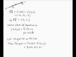 finding the equation of a line in 3d