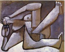 reclining woman oil on canvas by pablo picasso 1881 1973 spain