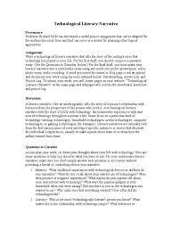 technological literacy narrative narrative multimedia