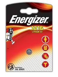 <b>Батарейки Energizer</b> для электронных устройств - <b>CR1216</b> Russian