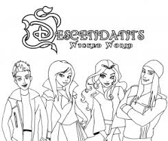 Descendants Wicked World Coloring Pages Coloring Page Free Cartoon
