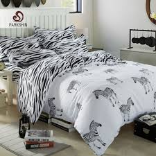 zebra duvet cover set animals bedding set twin full queen king black and white striped bed linen 4pcs bedclothes in bedding sets from home garden on