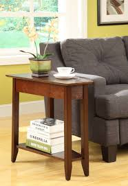 american heritage espresso wedge end table