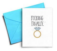 Amazon Com Engagement Card Funny Wedding Congratulations Card