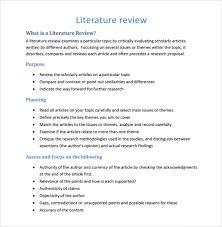 Literature Review Matrix Sample Sample Literature Review Template