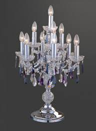 table lamp crystal colored