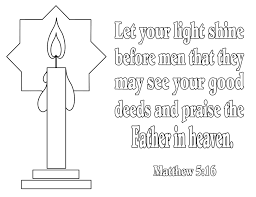 Let Your Light Shine Lds Primary Bible Verse Coloring Pages For Light In The Bible By The