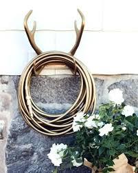 gold deer antler hose holder outdoor garden stake your