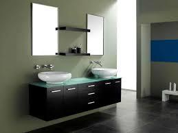 bathrooms vanity ideas. Bathroom:Excellent Modern Double Sink Bathroom Vanity With Bowl Shape Ceramic And Frameless Glass Bathrooms Ideas