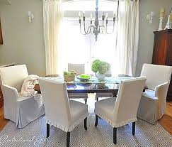 incredible short white pleated slip covers for dining room chairs home interiors slip covered dining room chairs ideas