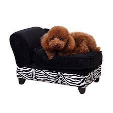 pawhut luxury pet sofa storage dog bed chaise lounge puppy cat kitten lounger w