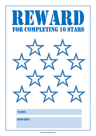 Star Reward Chart For Children Templates At
