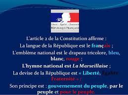 """Résultat de recherche d'images pour """"Article 2 de la constitution"""""""