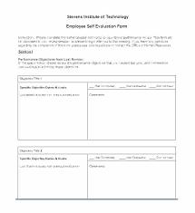 Restaurant Employee Performance Evaluation Form Employee Self Evaluation Form Template