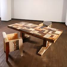 earthy furniture. furniture exceptional recycled of wasted wood chunk captivating scrapwood table with tiny chair made reclaimed wooden pieces in earthy tones a