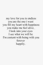 My Love For You Quotes Delectable My Love For You Is Endless I'm Content Being With You Forever