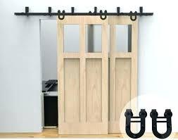 barn door hanging kit bypass barn door closet hardware horseshoe hanger kit tracks from 5 rolling
