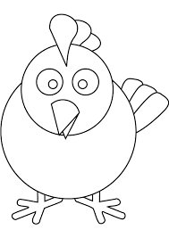 Small Picture Chicken free coloring page
