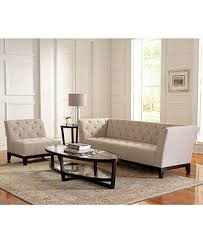 Ivory Tufted Living Room Furniture Collection