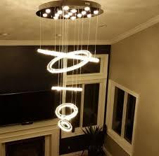new modern lighting. New Modern Luxury Circles LED Crystal Pendant Lamp Diamond Ring Suspended Lighting Loft Villa Lights For Dining Living Room-in From I