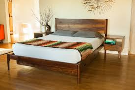 mid century modern king bed. Delighted Mid Century Modern King Bed Classic With Storage And Attached Night Stands