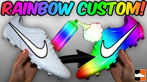 Design Your Cleats Unbelievable Rainbow Boots How To Customise Your Soccer Cleats