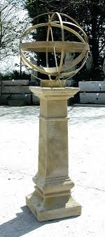 garden armillaries armillary sphere on pedestal
