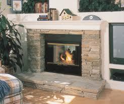 image of cute wood burning fireplace doors