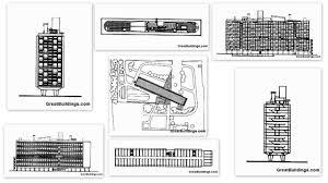 Unite D Habitation Marseilles Diagrams Le Corbusier Concept