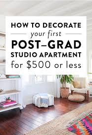 Decorating A Studio Apartment On A Budget Custom Decoration