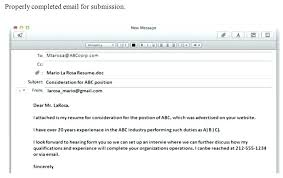 Email Cover Letter For Sending Resume Samples Sample To Send And