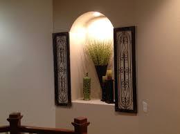 wall niche lighting. how to decorate wall cutout niche lighting