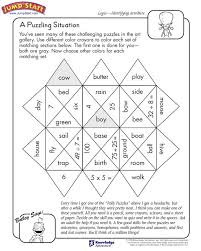 A Puzzling Situation – Logical Reasoning Worksheets for Kids ...