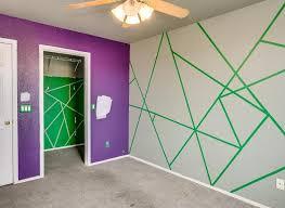 geometric angles paint design purple green triangles shapes gilbert arizona home house for photo
