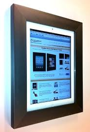 wall mounted ipad holder picture frames for 2 on wall mounting frames qupod wall mounted ipad