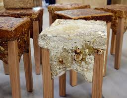 sawdust furniture. designer philip ross has taken putting fungi to use in a different direction he is using grow furniture sawdust