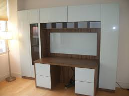 custom home office furniture. Custom Made Home Office Solution - Large Desk With File Drawers, Closed Door Storage Furniture