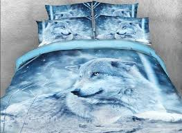 61 onlwe wolf in the wild printed cotton 4 piece 3d bedding sets duvet covers