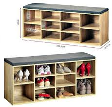 wooden shoe cabinet furniture. Wooden Shoe Storage Cabinet Seat Bench With Cushion Home Organise Rack Furniture
