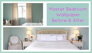 Master Bedroom Wallpaper The Daily Connoisseur Master Bedroom Wallpaper Before After