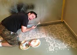 painted concrete floors ling painted concrete floors stencil