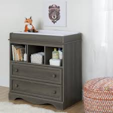South Shore Furniture Savannah Changing Table with Drawers Gray