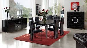 dining room tables las vegas. Black Eco Leather Modern Formal Dining Room Table W Chrome Legs Tables Las Vegas