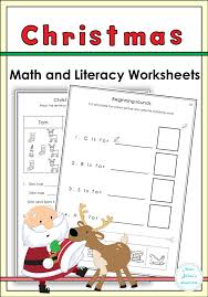 Christmas Math and Literacy Worksheets | Literacy worksheets ...