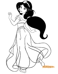 Small Picture Jasmine Coloring Pages Disney Princess Coloring Pages
