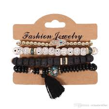 <b>2019 2019 Fashion Vintage</b> Ethnic Multilayer Big Beads Bracelets ...